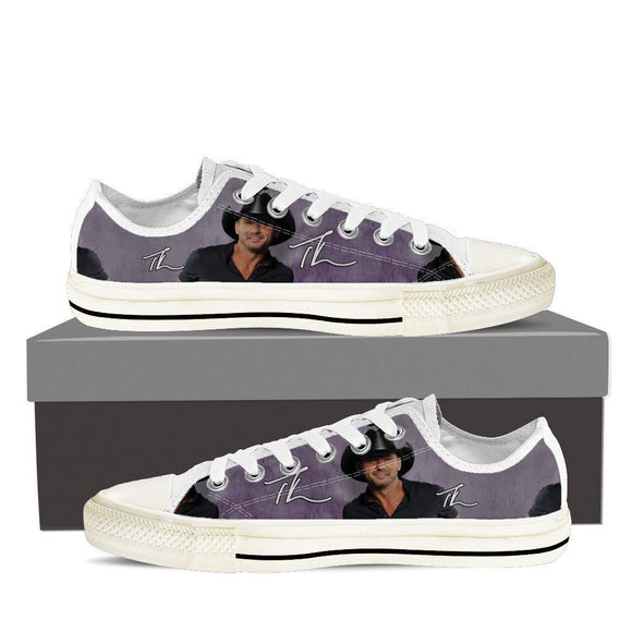 tim mcgraw mens low cut sneakers