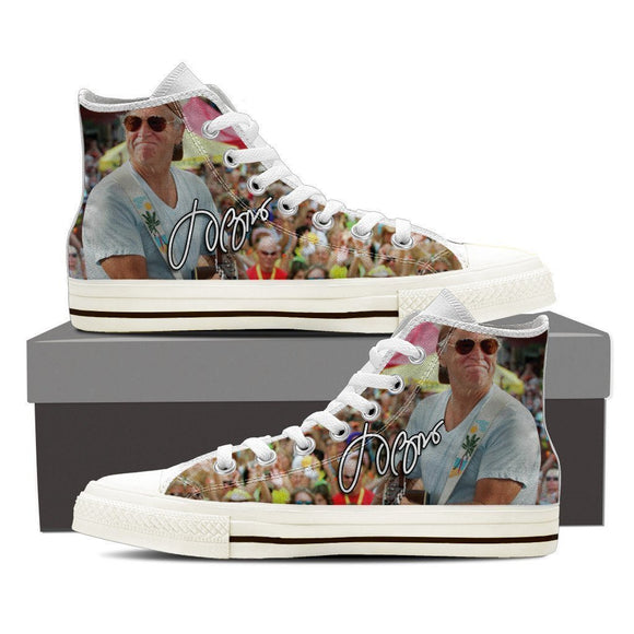 jimmy buffett mens high top sneakers
