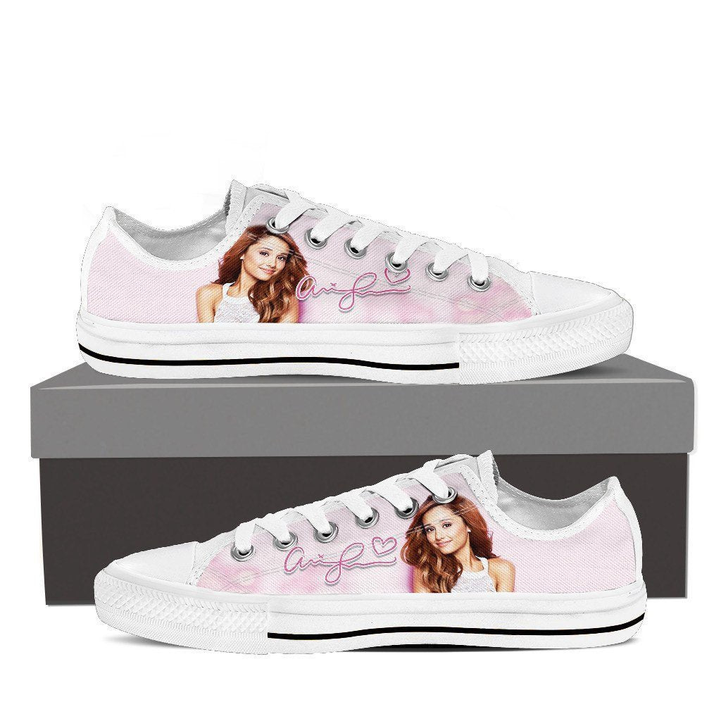 ariana grande ladies low cut sneakers