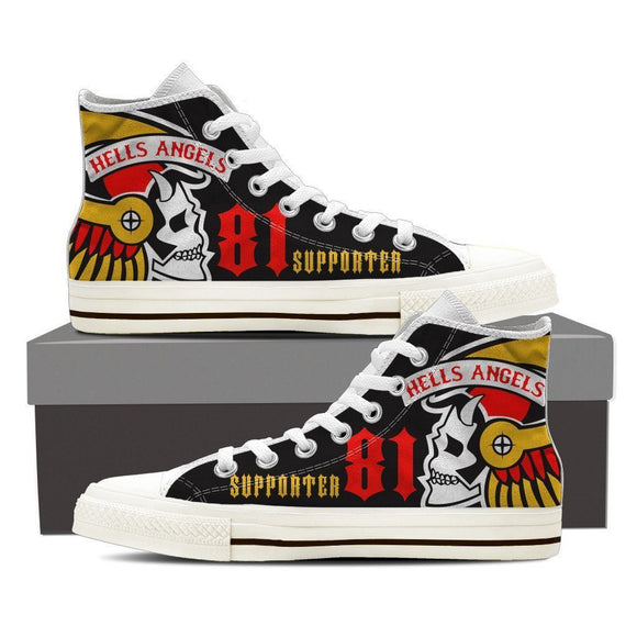 hells angels supporter mens high top sneakers