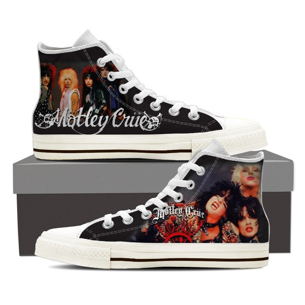 motley crue mens high top sneakers