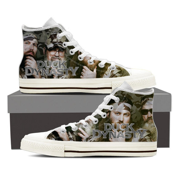 duck dynasty mens high top sneakers