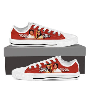 sonny and cher ladies low cut sneakers