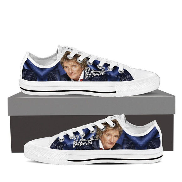 rod stewart mens low cut sneakers