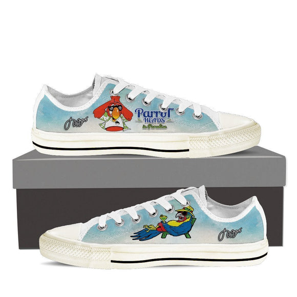 jimmy buffett parrotheads mens low cut sneakers