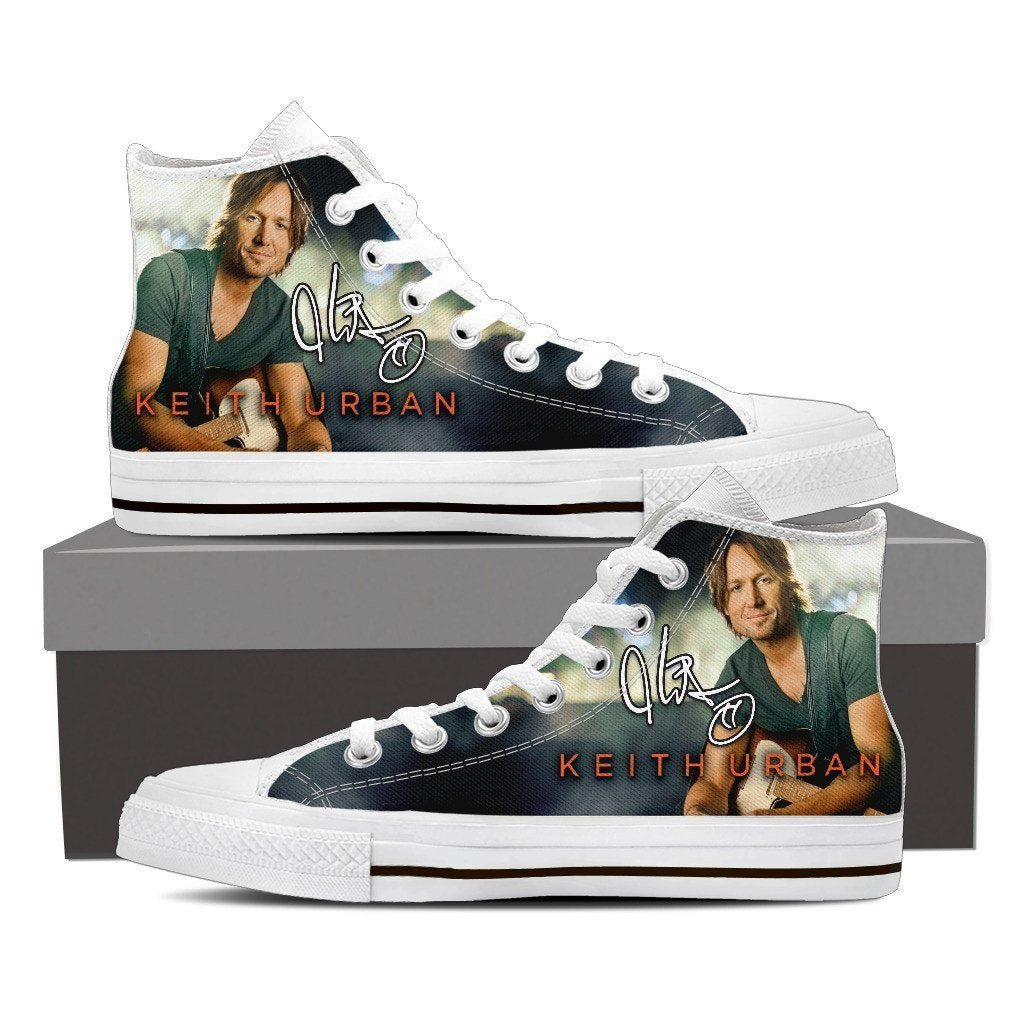 keith urban mens high top sneakers