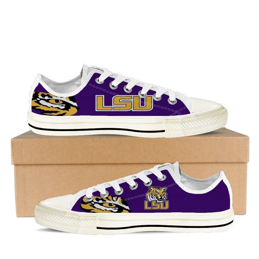 lsu tigers ladies low cut sneakers