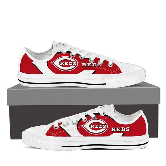 cincinnati reds mens low cut sneakers
