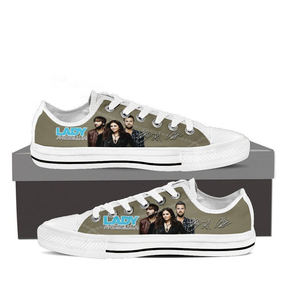 lady antebellum ladies low cut sneakers