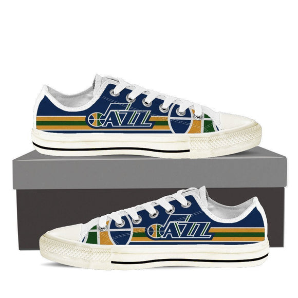 utah jazz ladies low cut sneakers