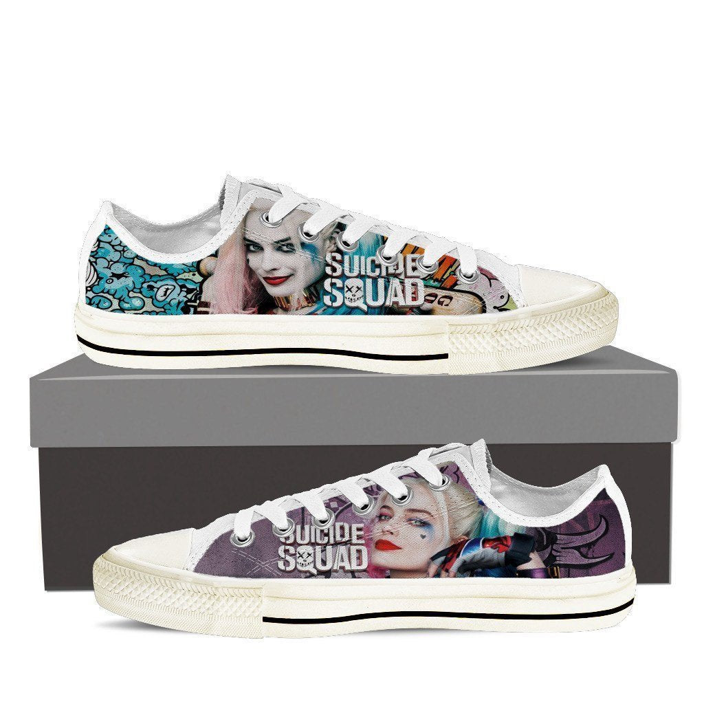 harley quinn mens low cut sneakers