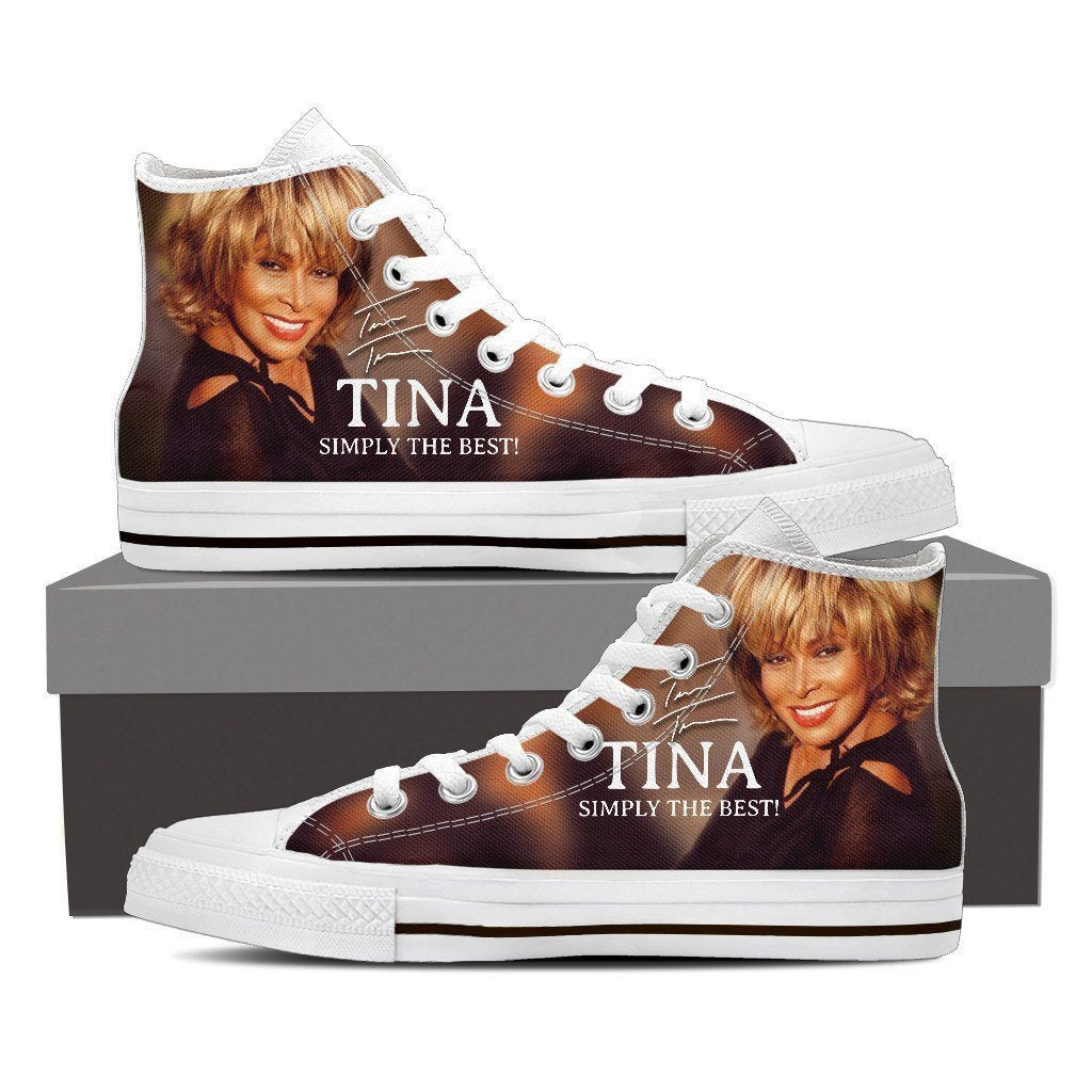 tina turner ladies high top sneakers