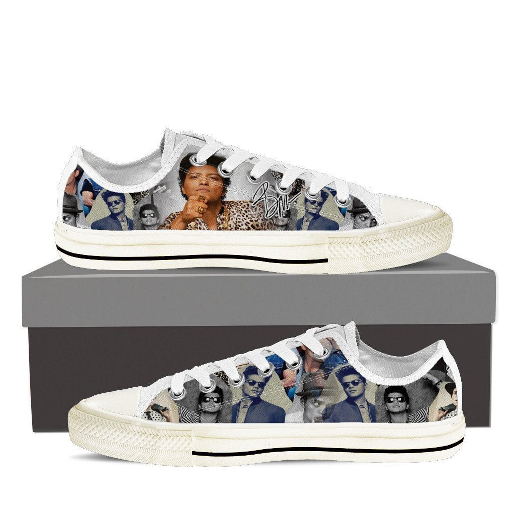 bruno mars ladies low cut sneakers