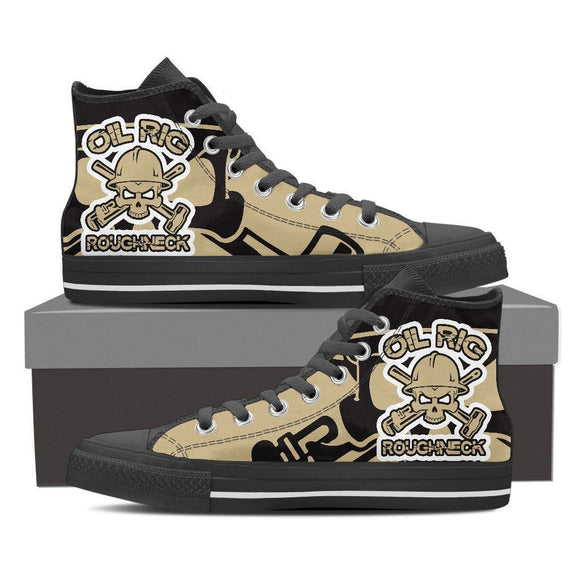 oil rig roughneck mens high top sneakers