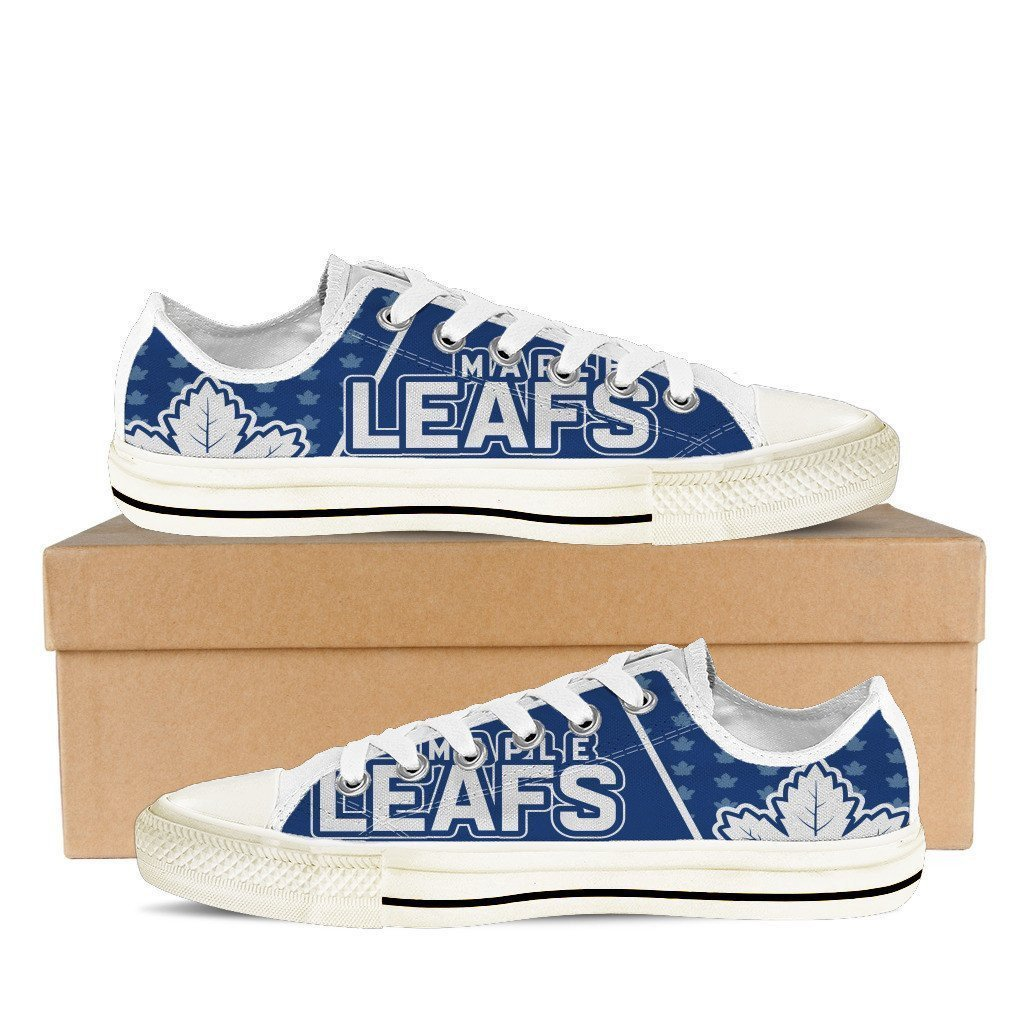 toronto maple leafs ladies low cut sneakers