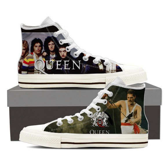 queen band mens high top sneakers