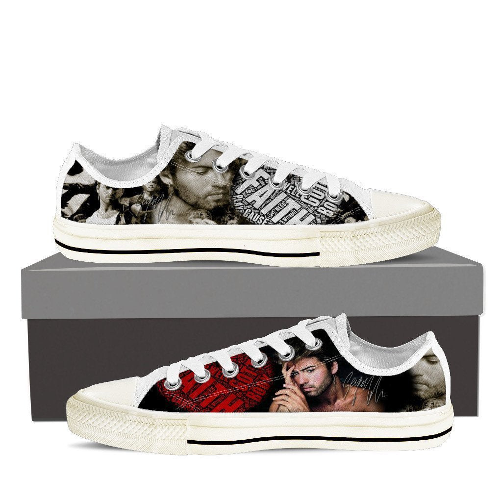 george michael sneaker mens low cut sneakers cut