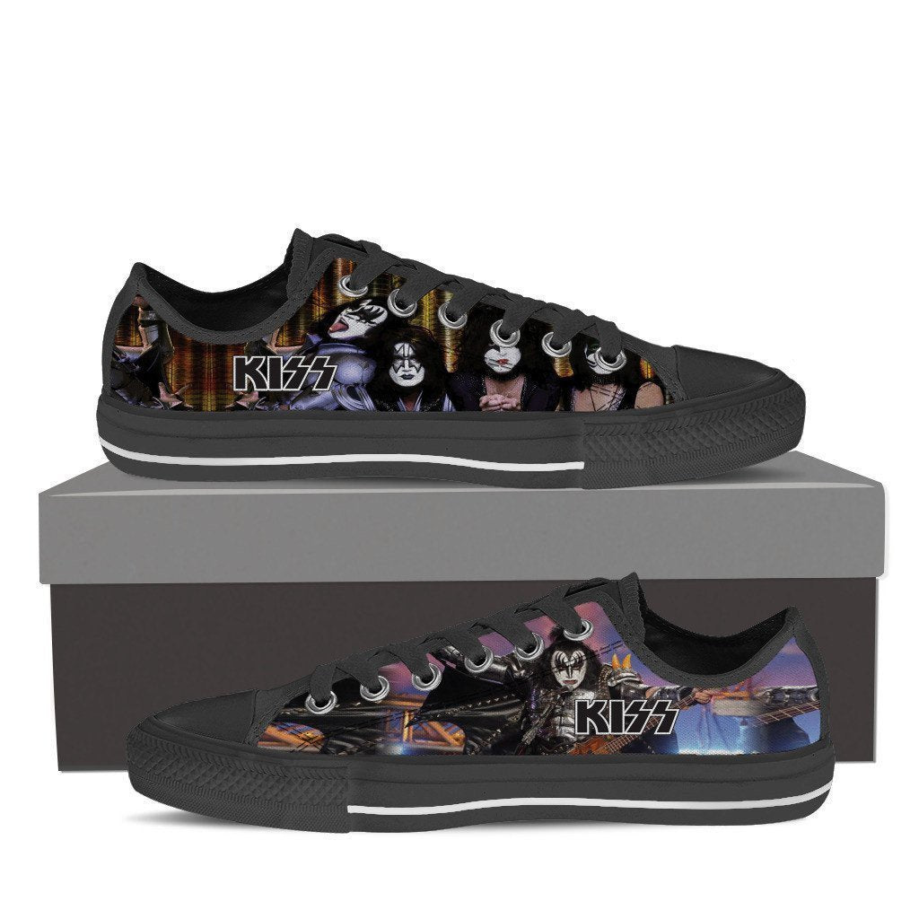 kiss band mens low cut sneakers
