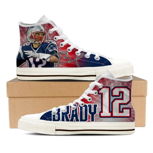 tom brady mens high top sneakers high top