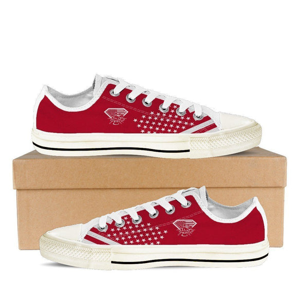 diamond firefighter ladies low cut sneakers