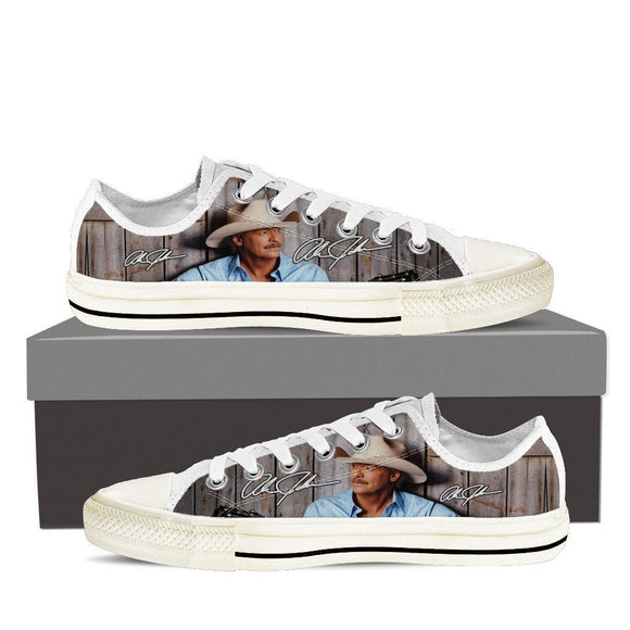 alan jackson mens low cut sneakers