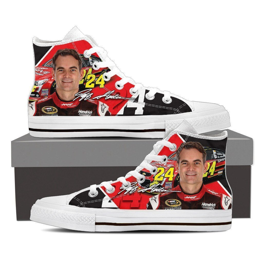 jeff gordon ladies high top sneakers