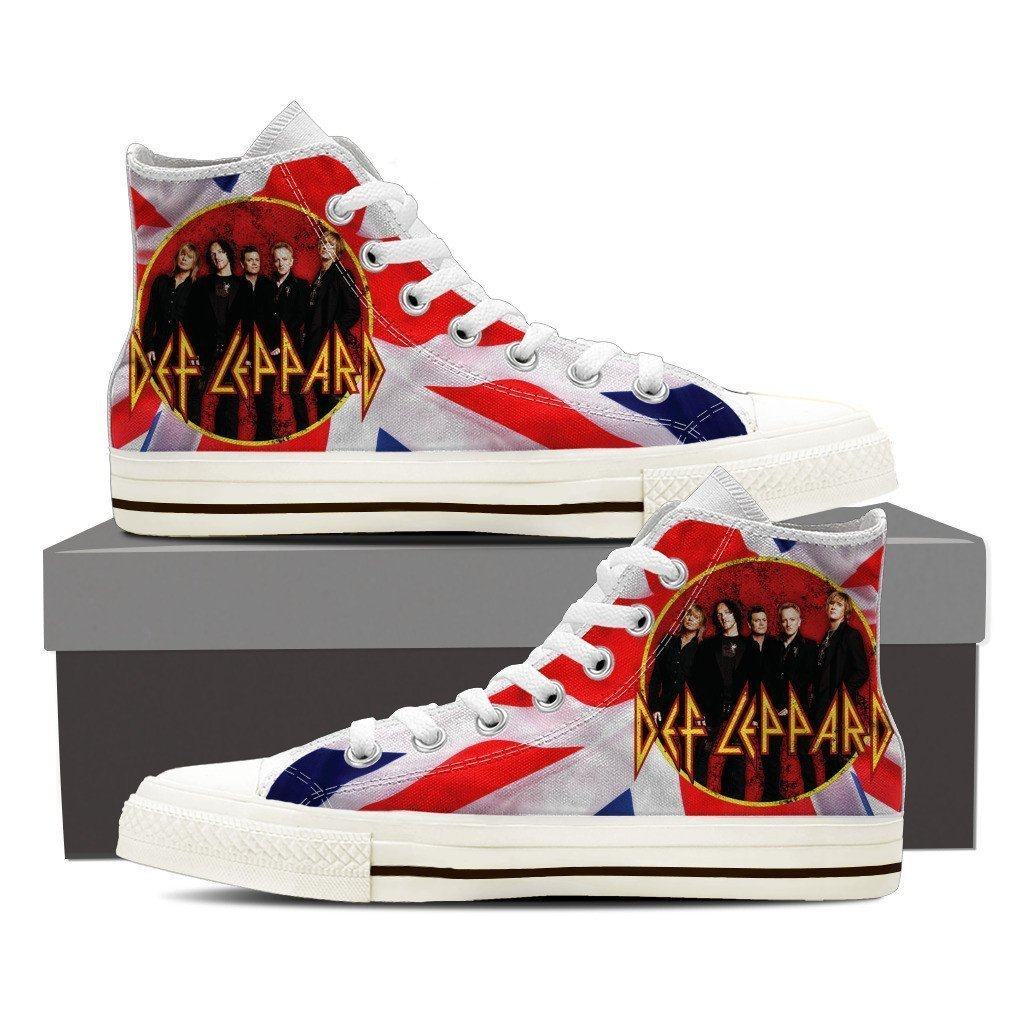 def leppard new mens high top sneakers
