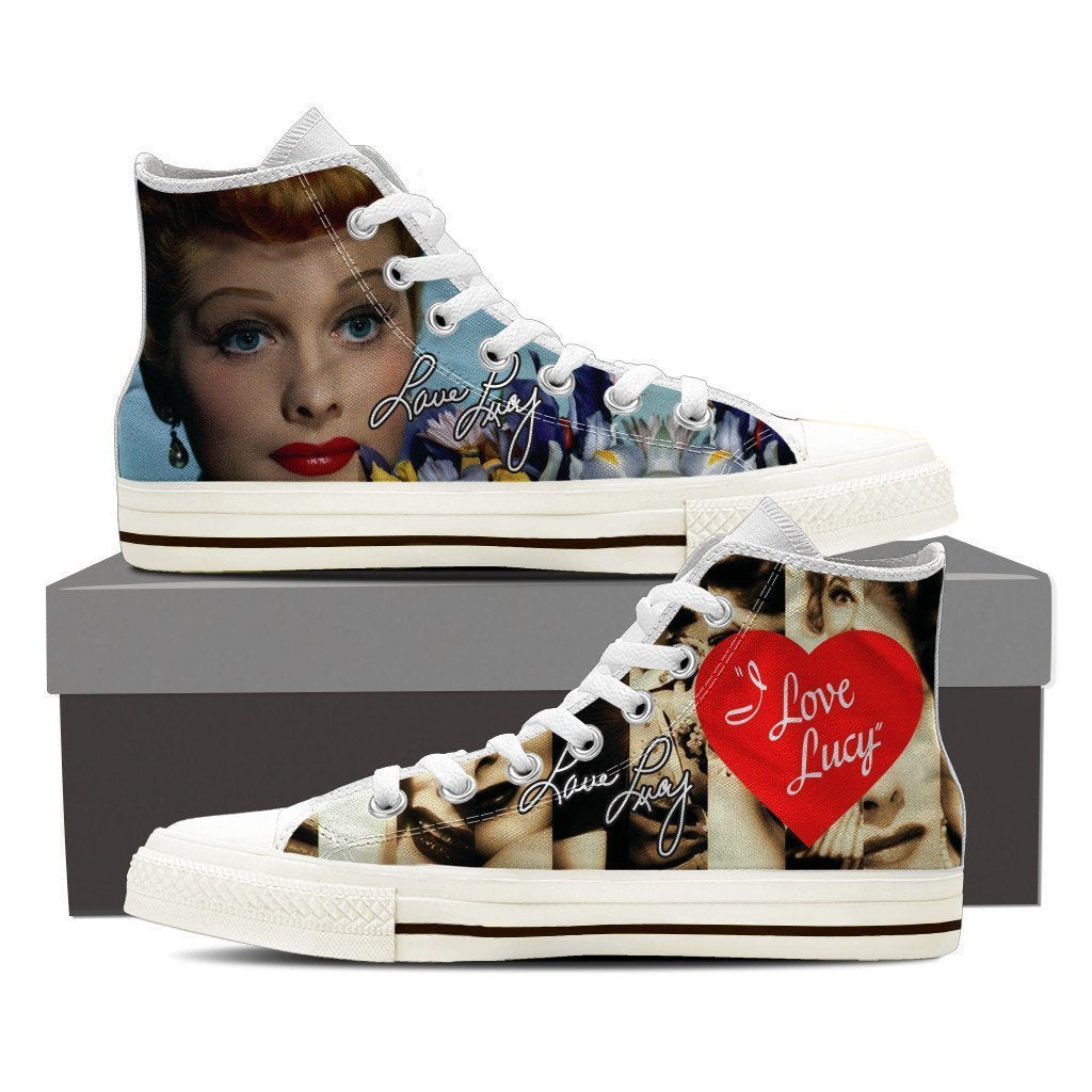 lucille ball mens high top sneakers