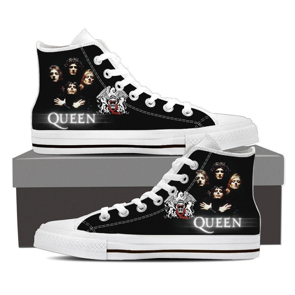 queen band new ladies high top sneakers