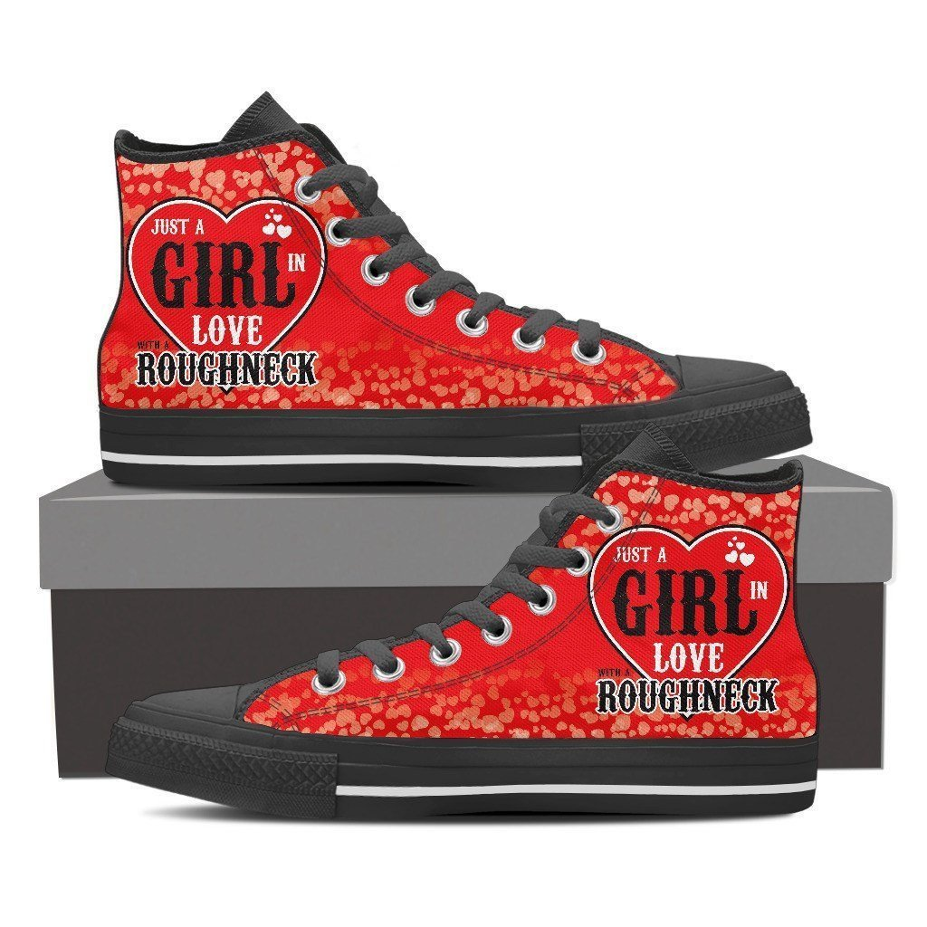 roughneck girl mens high top sneakers