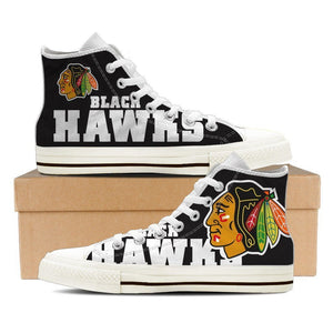 chicago blackhawks ladies high top sneakers