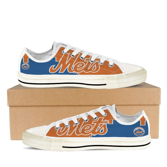new york mets mens low cut sneakers cut