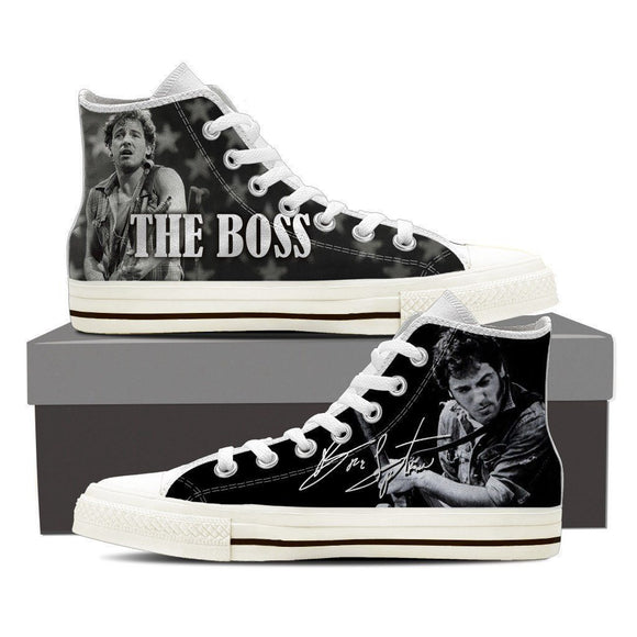 bruce springsteen mens high top sneakers high top