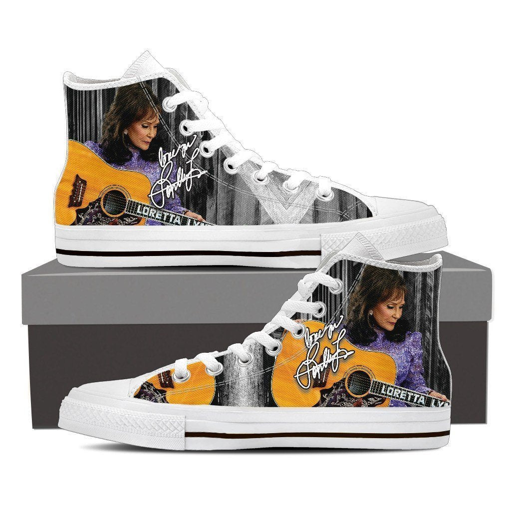 loretta lynn ladies high top sneakers