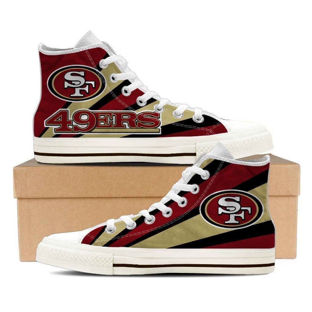 san francisco 49ers mens high top sneakers