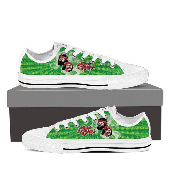 cheech and chong ladies low cut sneakers
