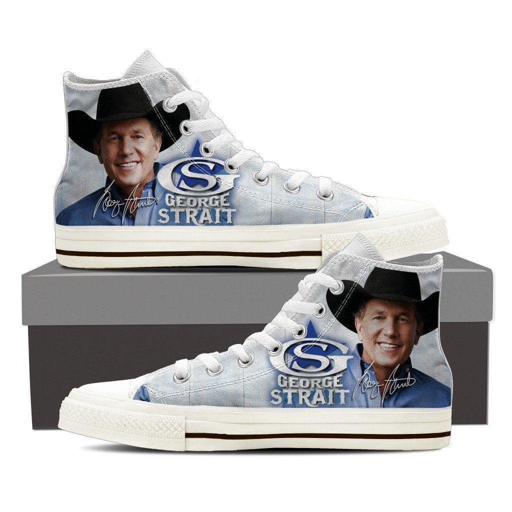 george strait ladies high top sneakers