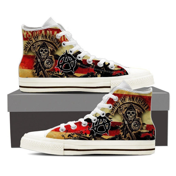 sons of anarchy ladies high top sneakers