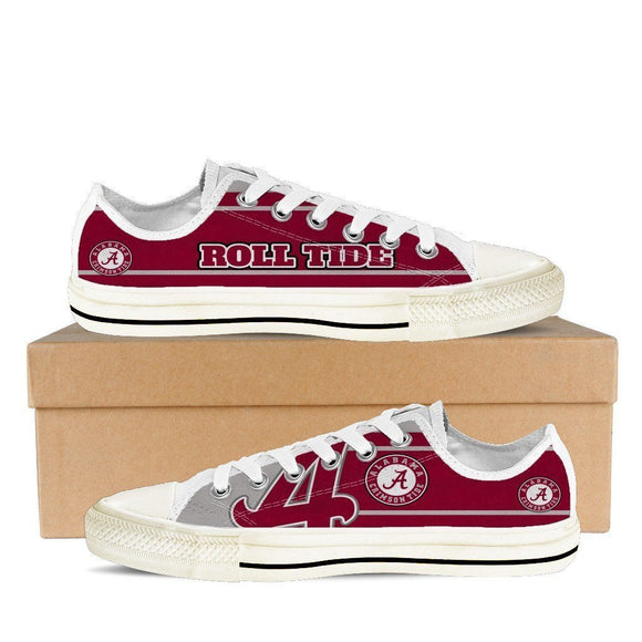 alabama crimson tide mens low cut sneakers cut
