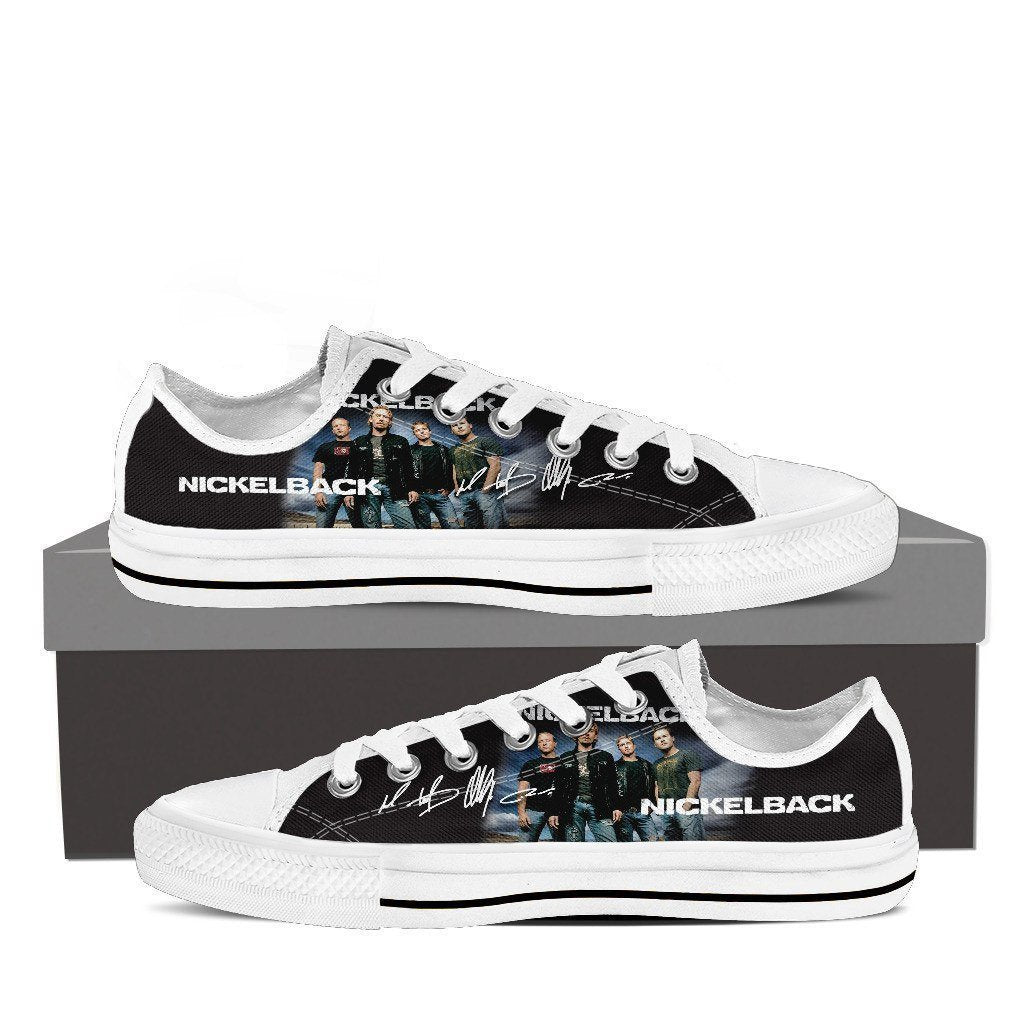 nickelback ladies low cut sneakers