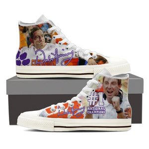 dabo swinney mens high top sneakers high top
