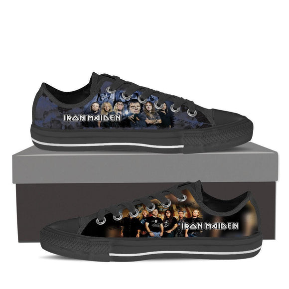iron maiden ladies low cut sneakers