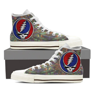 grateful dead skull mens high top sneakers