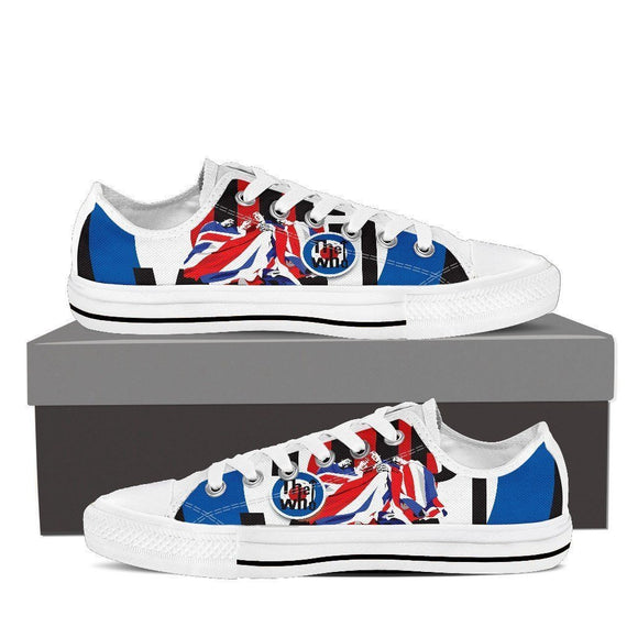 the who mens low cut sneakers
