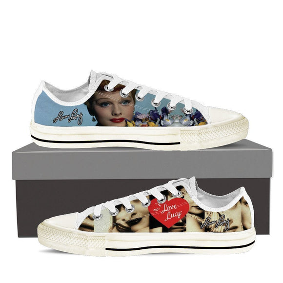 lucille ball ladies low cut sneakers