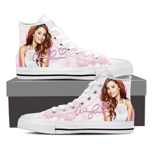 ariana grande ladies high top sneakers