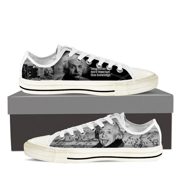 albert einstein mens low cut sneakers
