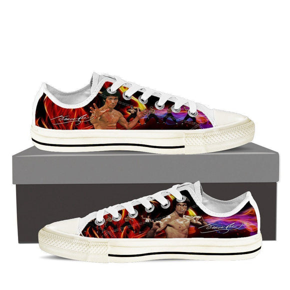bruce lee  ladies low cut sneakers