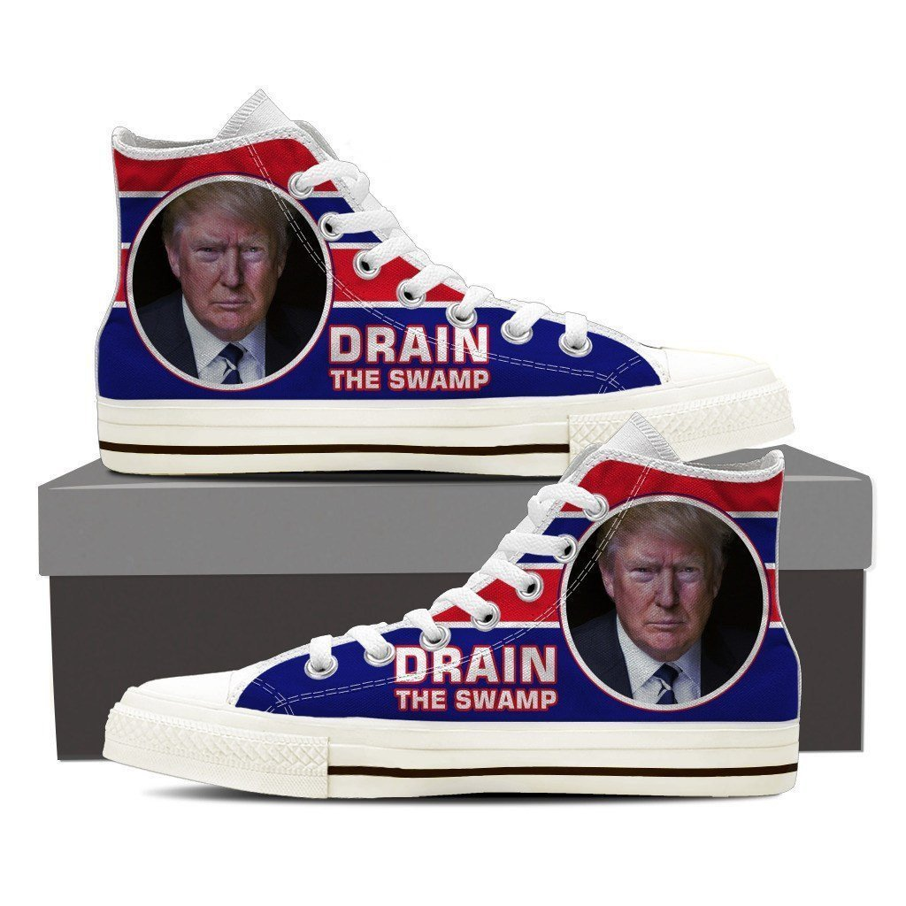 drain the swamp ladies high top sneakers