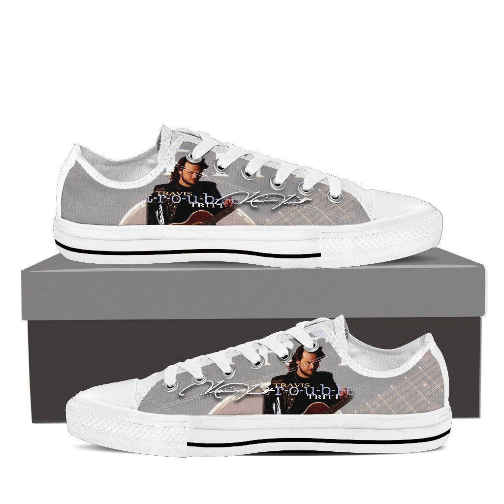 travis tritt mens low cut sneakers